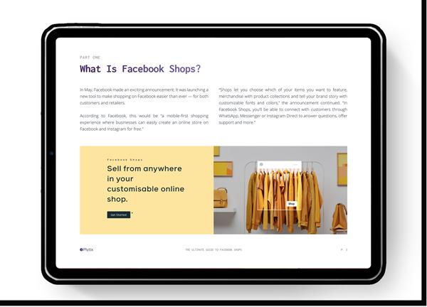 What's Facebook shop image