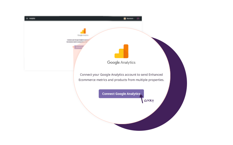 Easy to connect with Google Analytics