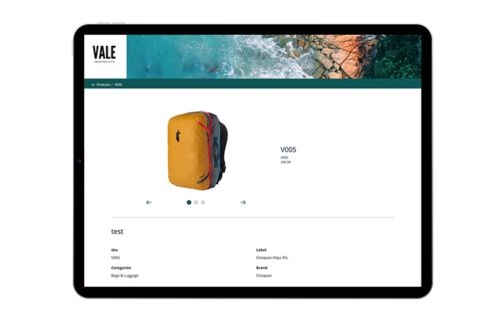 Brand Portal - Product Page