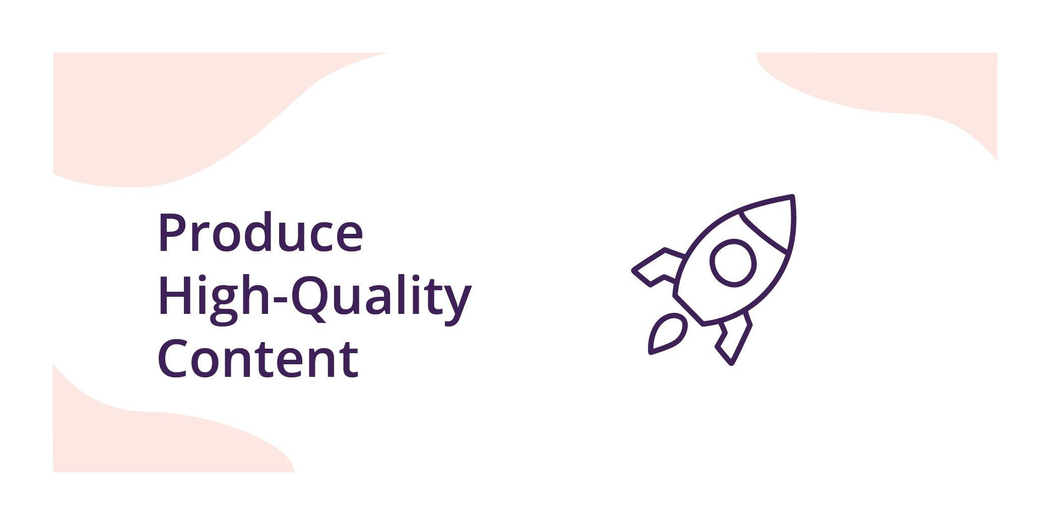 Ecommerce SEO-high quality content