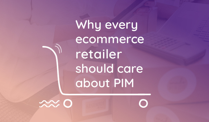 Shopping cart with text on the need for PIM software in 2021