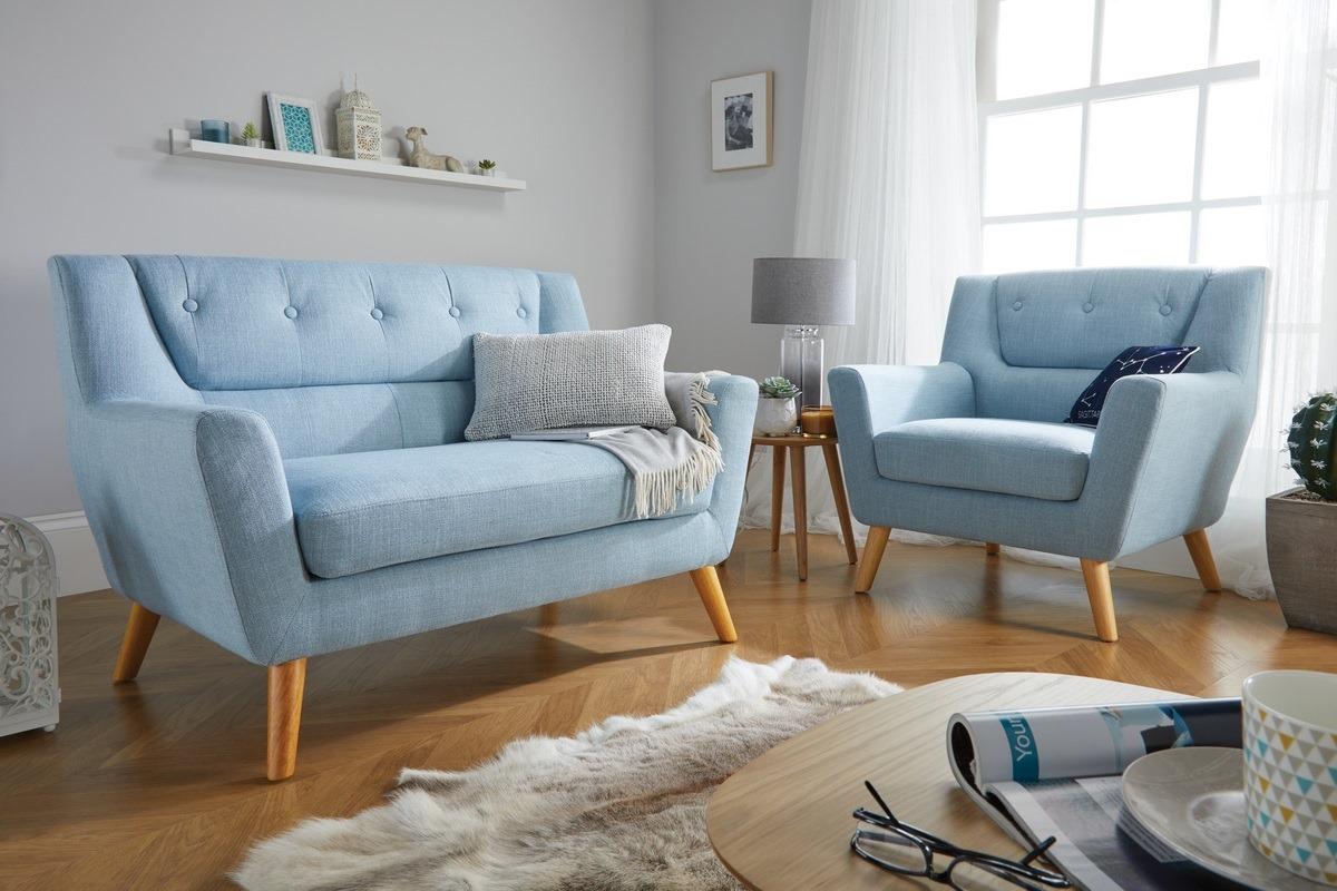 Lambeth Sofa - Blue - Birlea Furniture