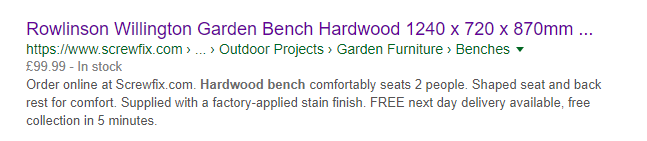 bench title