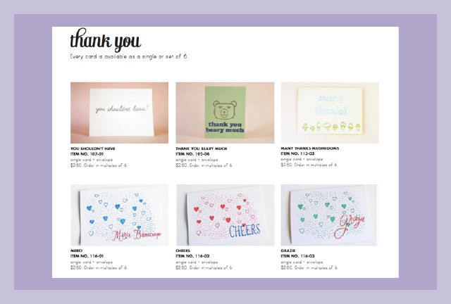 Greeting Card Industry Line Sheet