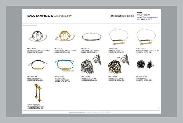 Jewelry Industry Line Sheet