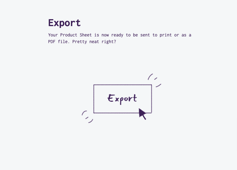 export your finished line sheets