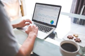 Google Analytics Laptop and Coffee