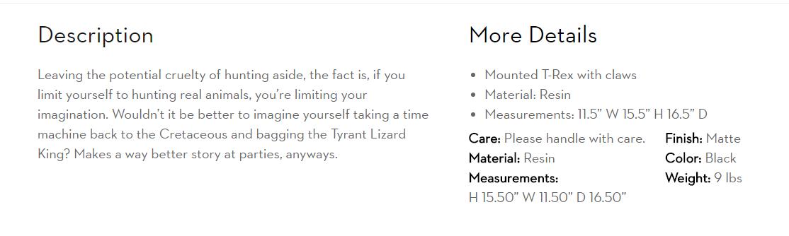 Product Description Ellie Black