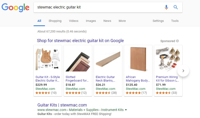 See the difference yourself by comparing these search results from a manufacturer who didn't upload product data to Google manufacturer Center…