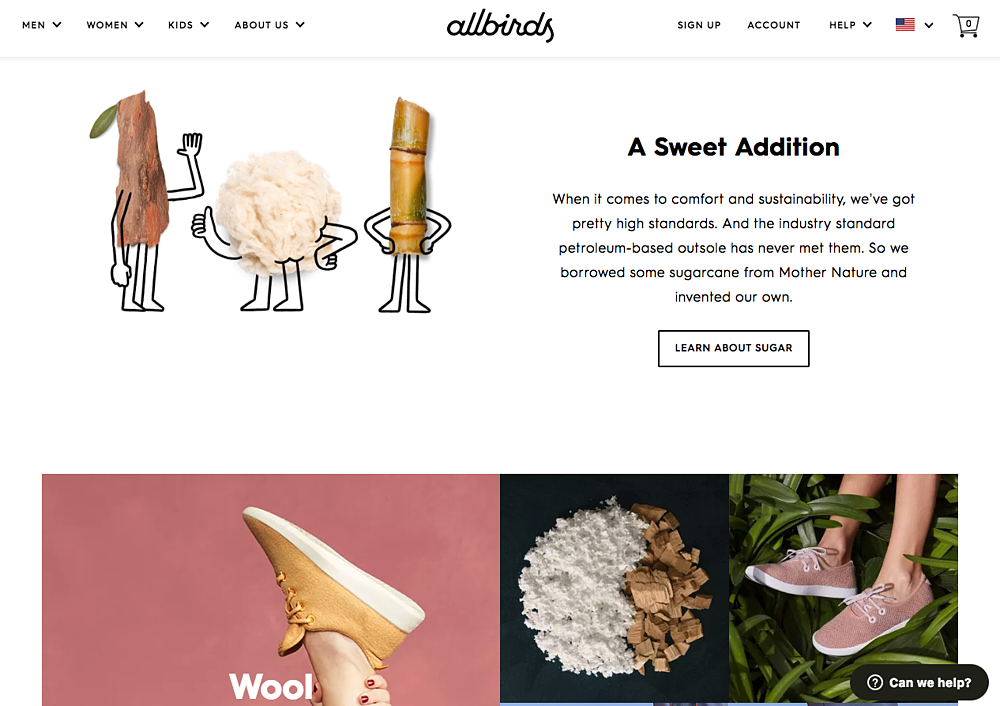 all-birds-homepage-design