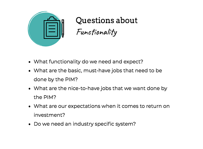 pim-questions-functionality