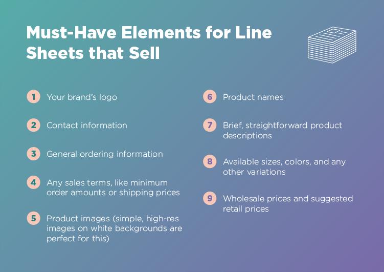 Must-Have Elements for Killer Line Sheets