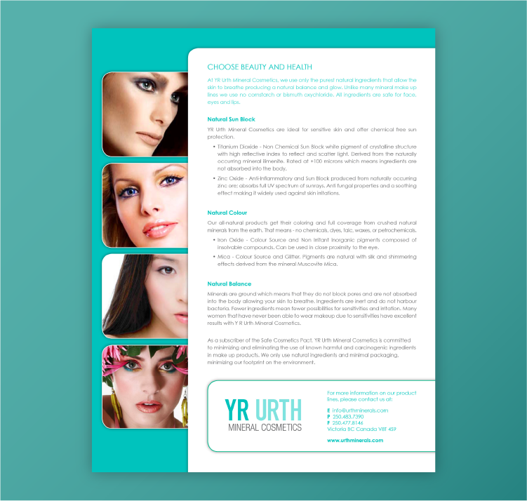 Examples of Sell Sheets for Cosmetics