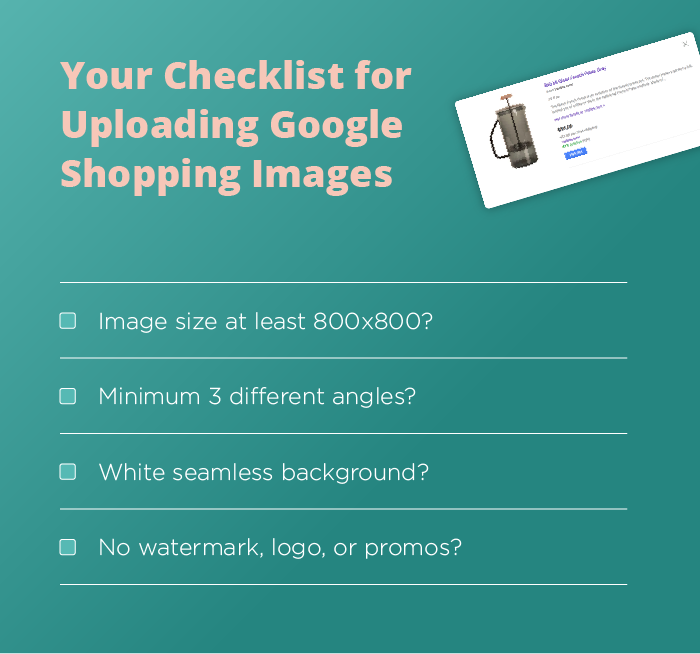 checklist for uploading google shopping images